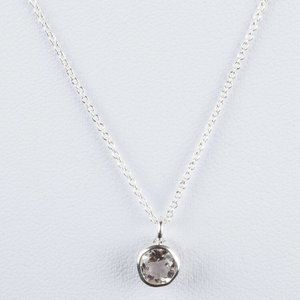 Sterling Silver Faceted Rock Crystal Clear Quartz